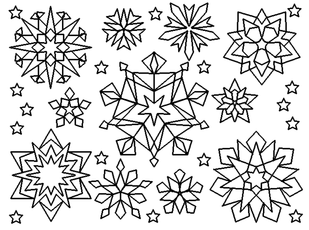 Das juma nest tagesmutter in lampertheim for Snowflake coloring page